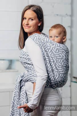 Moja druga chusta do noszenia dzieci - PERŁA, splot żakardowy (100% bawełna) - rozmiar M (drugi gatunek)