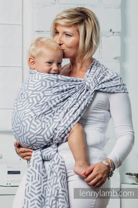 Basic Line Baby Sling - PEARL, Jacquard Weave, 100% cotton, size XL (grade B)