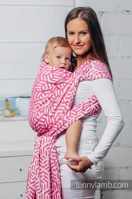 Moja druga chusta do noszenia dzieci - TURMALIN, splot żakardowy (100% bawełna) - rozmiar M