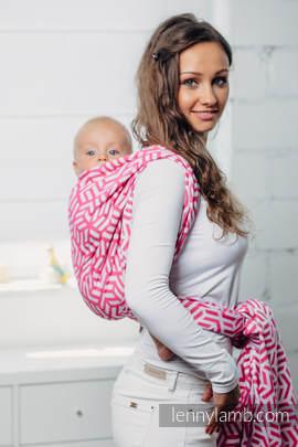 Basic Line Baby Sling - TOURMALINE, Jacquard Weave, 100% cotton, size XS (grade B)