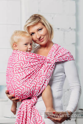 Basic Line Baby Sling - TOURMALINE, Jacquard Weave, 100% cotton, size S (grade B)