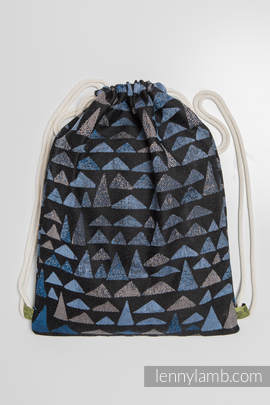 Sackpack made of wrap fabric (100% cotton) - EAGLES' STONES - standard size 32cmx43cm