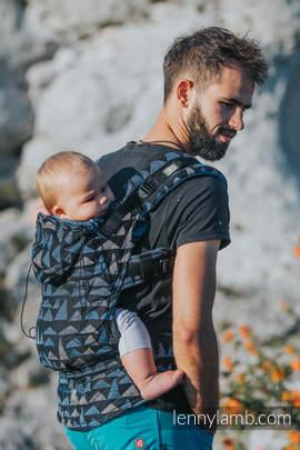 Nosidełko Ergonomiczne z tkaniny żakardowej 100% bawełna , Toddler Size, ORLE SKAŁY - Druga Generacja