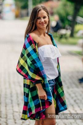 Long Cardigan - plus size - Diamond Plaid