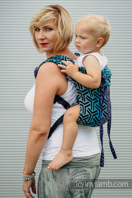 Lenny Buckle Onbuhimo, toddler size, jacquard weave (100% cotton) - Wrap conversion from TRINITY COSMOS