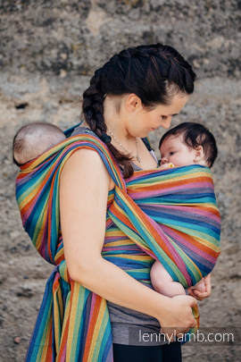 Baby Sling, Broken Twill Weave (bamboo + cotton) - Paradiso - size XL (grade B)