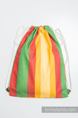 Sackpack made of wrap fabric (100% cotton) - SUMMER- standard size 32cmx43cm