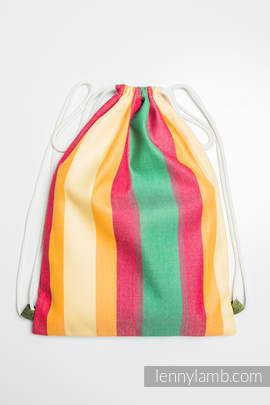 Sackpack made of wrap fabric (60% cotton 40% bamboo) - SPIRNG - standard size 32cmx43cm