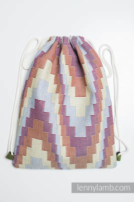 Sackpack made of wrap fabric (100% cotton) - TRIO - standard size 32cmx43cm