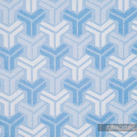 TRINITY BABY BLUE, fabric quarters, jacquard, size 50cm x 70cm - OUTLET