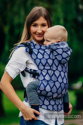 Nosidełko Ergonomiczne z tkaniny żakardowej 100% bawełna , Toddler Size, RADOSNY CZAS RAZEM - Druga Generacja