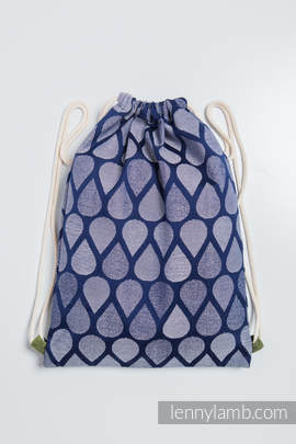 Sackpack made of wrap fabric (100% cotton) - JOYFUL TIME TOGETHER - standard size 32cmx43cm