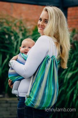 Turnbeutel, hergestellt vom gewebten Stoff (100% Baumwolle) - LITTLE HERRINGBONE AMAZONIA - Standard Größe 32cmx43cm