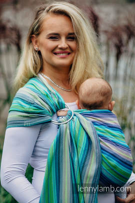 Ringsling, Herringbone Weave (100% cotton) - with gathered shoulder - LITTLE HERRINGBONE AMAZONIA