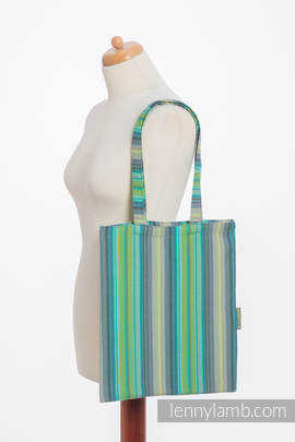 Shopping bag made of wrap fabric (100% cotton) - LITTLE HERRINGBONE AMAZONIA