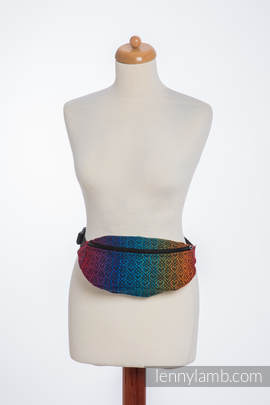 Waist Bag made of woven fabric, (100% cotton) - BIG LOVE RAINBOW DARK