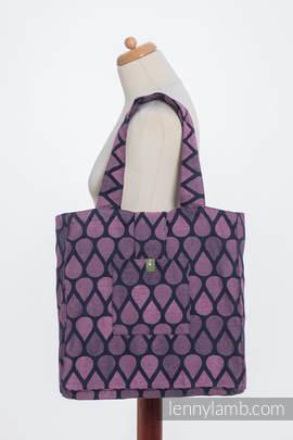 Torba na ramię z materiału chustowego, (100% bawełna) - RADOSNY CZAS Z TOBĄ  - uniwersalny rozmiar 37cmx37cm