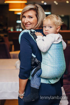 LennyUp Carrier, Standard Size, jacquard weave 100% cotton - wrap conversion from BIG LOVE ICE MINT