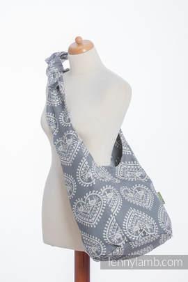 Hobo Tasche, hergestellt vom gewebten Stoff (100% Baumwolle) - FOLK HEARTS