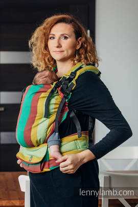 LennyUp Tragehilfe, Größe Standard, Kreuzköper-Bindung, 100% Baumwolle - INDIAN SUMMER