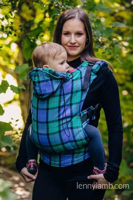 Nosidełko Ergonomiczne z takniny chustowej, splot skośny, 100% bawełna , Toddler Size, SIELSKA KRATA - Druga Generacja.