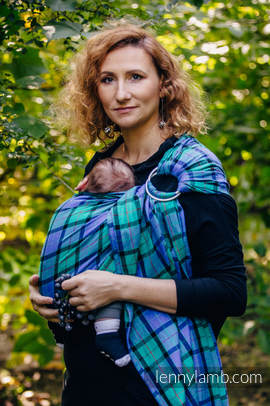 Ring Sling - 100% Cotton - Twill Weave, with gathered shoulder - COUNTRYSIDE PLAID (grade B)