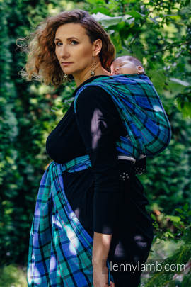 Baby Sling, Twill Weave, 100% cotton,  COUNTRYSIDE PLAID - size M