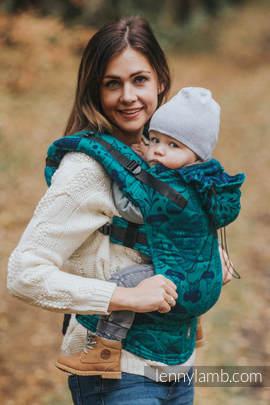 Nosidełko Ergonomiczne z tkaniny żakardowej 100% bawełna , Toddler Size, POD LIŚCIEM - Druga Generacja