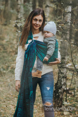 Ringsling, Jacquard Weave (100% cotton) - UNDER THE LEAVES