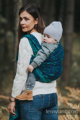 Żakardowa chusta do noszenia dzieci, bawełna - POD LIŚCIEM - rozmiar M (drugi gatunek)