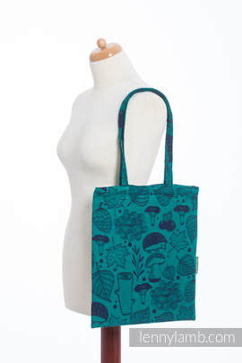 Shopping bag made of wrap fabric (100% cotton) - UNDER THE LEAVES