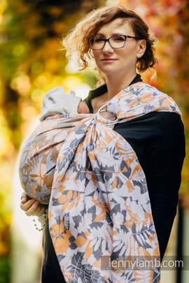 Ringsling, Jacquard Weave (100% cotton) - WHIFF OF AUTUMN (grade B)