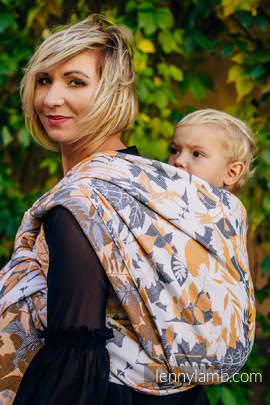 Żakardowa chusta do noszenia dzieci, bawełna - POWIEW JESIENI - rozmiar XS