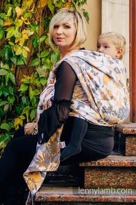 Żakardowa chusta do noszenia dzieci, bawełna - POWIEW JESIENI - rozmiar M (drugi gatunek)