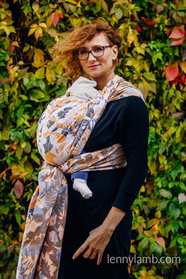 Baby Wrap, Jacquard Weave (100% cotton) - WHIFF OF AUTUMN - size L (grade B)