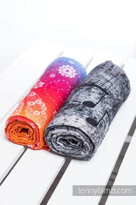 Swaddle Wrap Set - DRAGONFLY RAINBOW , SYMPHONY BLACK & WHITE
