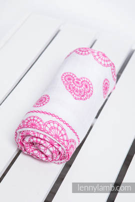 Swaddle Wrap - ICED LACE PINK & WHITE