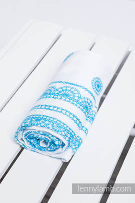 Swaddle Wrap - ICED LACE TURQUOISE & WHITE