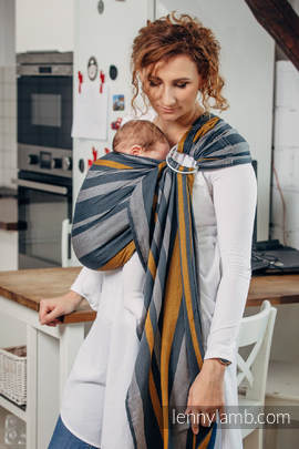 Ring Sling - 100% Cotton - Broken Twill Weave - SMOKY - HONEY