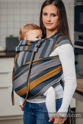 WRAP-TAI carrier Toddler, broken-twill weave - 100% cotton - with hood, SMOKY - HONEY