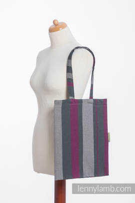 Shopping bag made of wrap fabric (100% cotton) - SMOKY - FUCHSIA