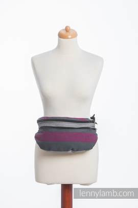 Waist Bag made of woven fabric, size large (100% cotton) - SMOKY - FUCHSIA