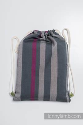 Turnbeutel, hergestellt vom gewebten Stoff (100% Baumwolle) - SMOKY - FUCHSIA - Standard Größe 32cmx43cm