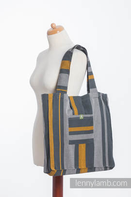 Shoulder bag made of wrap fabric (100% cotton) - SMOKY - HONEY - standard size 37cmx37cm