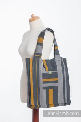 Torba na ramię z materiału chustowego, (100% bawełna) - SMOKY - MIÓD - uniwersalny rozmiar 37cmx37cm