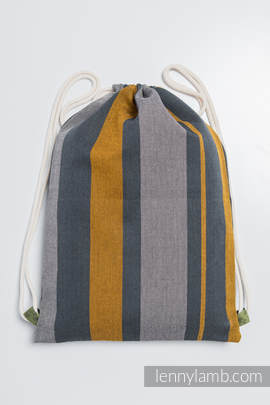 Sackpack made of wrap fabric (100% cotton) - SMOKY - HONEY - standard size 32cmx43cm