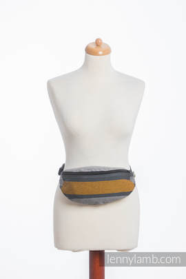 Waist Bag made of woven fabric, (100% cotton) - SMOKY - HONEY
