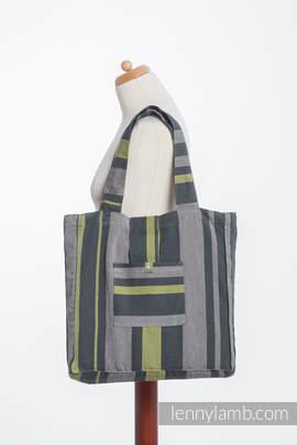 Torba na ramię z materiału chustowego, (100% bawełna) - SMOKY - LIMONKA - uniwersalny rozmiar 37cmx37cm