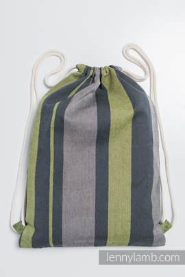 Turnbeutel, hergestellt vom gewebten Stoff (100% Baumwolle) - SMOKY - LIME - Standard Größe 32cmx43cm