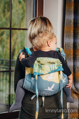 Lenny Buckle Onbuhimo, toddler size, jacquard weave (100% cotton) - Wrap conversion from WANDER